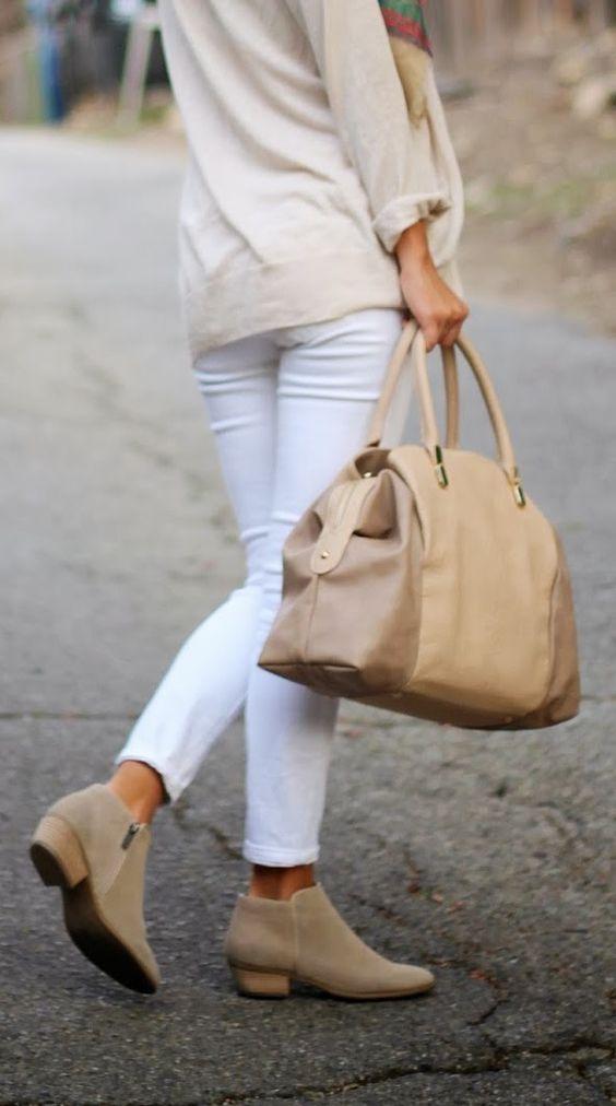winter white & nude accessories