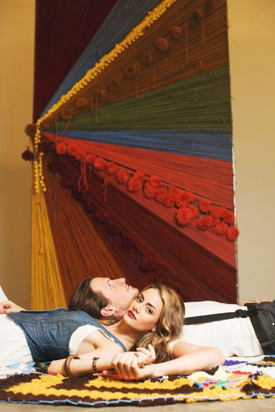 Knitted Bohemian Wedding Inspiration | Ruffled