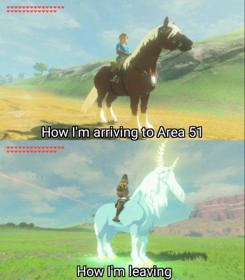 Botw Another Area 51 Meme Legend Of Zelda Memes Zelda Funny Zelda Memes