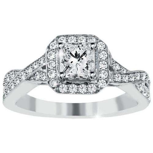 princess cut engagement ring halo princess cut