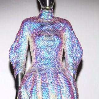 Alexander McQueen iridescent armor.. <3