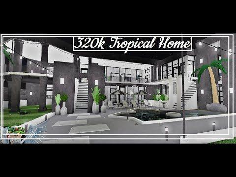320k Tropical Home Bloxburg Speedbuild Youtube Luxury House Plans Tropical Houses House Blueprints