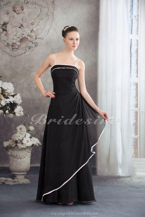 Bridesire - Tubino Canotta Raso terra Senza maniche Chiffon vestito [BD4557] - €85.41 : Bridesire