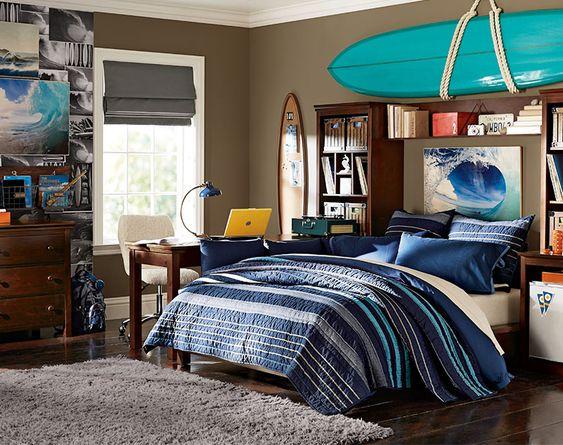 Teenage Guys Bedroom Ideas   Basketball Lover   PBteen