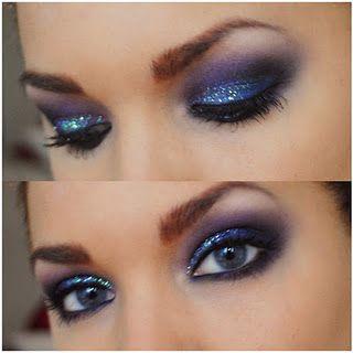 Blue Glitter Eyeshadow