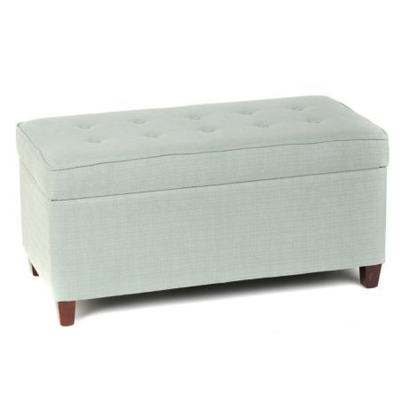Seafoam Green Storage Bench Green Products And Storage