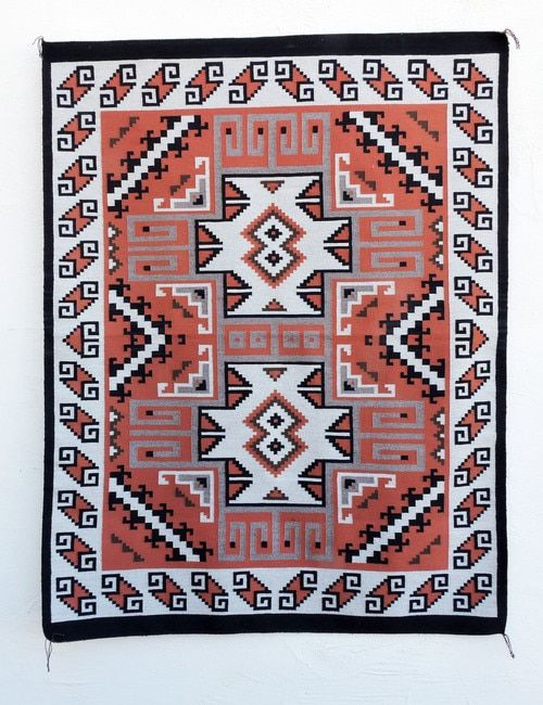 Contemporary Burntwater Navajo Rug By Susie Nez Robinson Indian