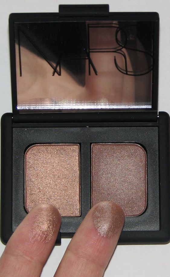 I'm a big fan of NARS eyeshadow and this is one of my favorite eyeshadow Duos ever. Nars Duo in Kalahari. This duo has even caused people to tell me I look like someone on The Shahs of Sunset. Basically, I look Persian. Which is a good compliment in my ey