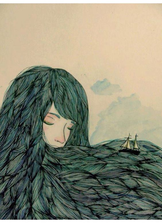 the girl with clouds in her mind and oceans in her hair