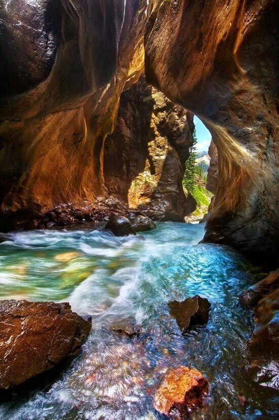 Box Canyon Falls in Ouray, Colorado Christian and I LOVE going here! its spectacular!