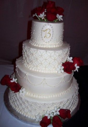 round wedding cakes with red roses 4 tiered wedding cake with roses wedding ideas 19339