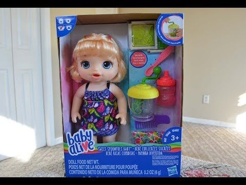 Baby Alive Snackin Sarah Big Doll That Eats Food Talks With Play Doh Youtube Baby Alive Dolls Baby Alive Baby Alive Food