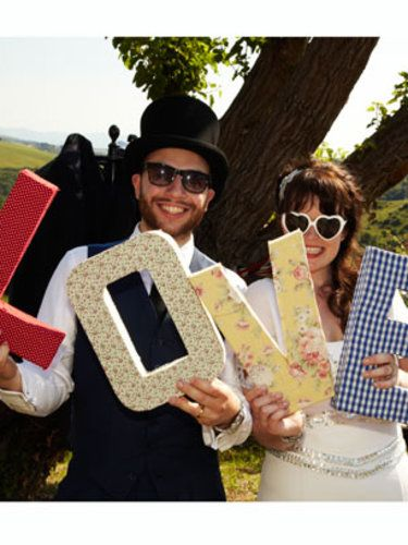 """Do this with card board and scrapbook paper to make letters or """"prom"""" pre-prom photos or at prom photos"""