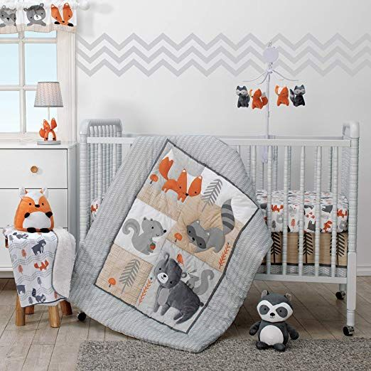 Cute For A Nature Baby Room Forest Animals Wild Animals Outdoor Earthy Baby Crunchy Mom Bedtime Originals Acorn 3 Pi Nursery Crib Crib Bedding Baby Cribs