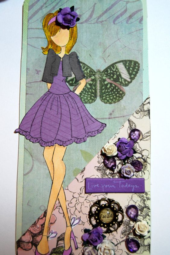 Prima Doll Tag Live Your Todays Handmade Paper Tag by Smiles4Paper, $6.00