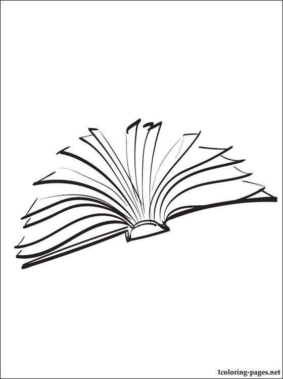 Offnen Sie Die Buchzeichnung Kitap Haftasi Drawing Boyama Sayfalari