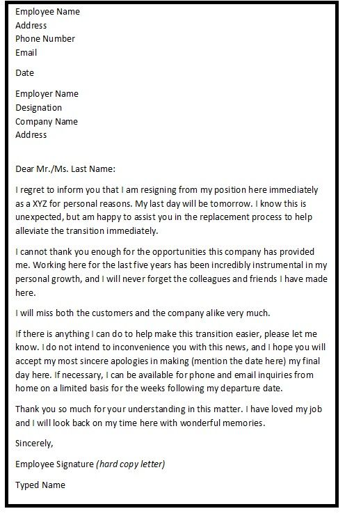 Letter Of Notice Two Week Notice Letter Template 15+ Notice - sample final notice letter