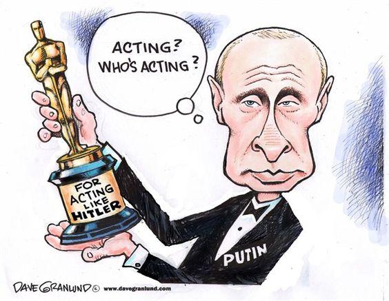 Putin Hitler Cartoon putin oscar © dave granlund,politicalcartoons ...
