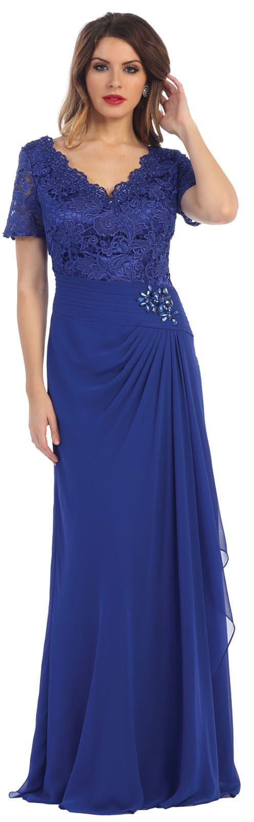 May Queen Beautiful Short Sleeve Mother Of The Bride Dress Walmart Com Walmart Com In 2021 Classy Long Dress Plus Size Formal Dresses Evening Gowns Formal [ 1600 x 496 Pixel ]