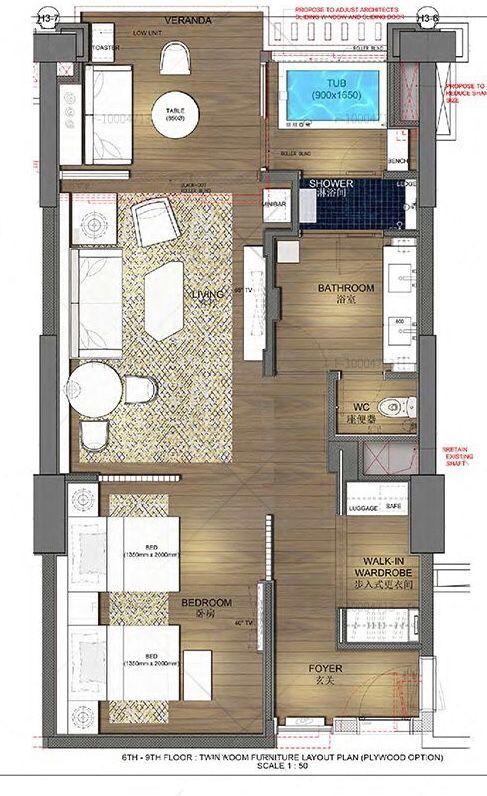 Four Seasons Sanya Resort Room Planning Hotel Plan Bedroom Hotel