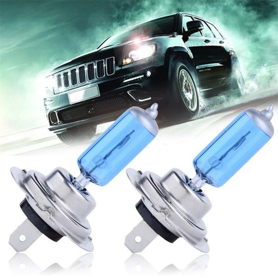 2pcs/lot H7 55W 12V Halogen Bulb Super Xenon Fog Lights High Power Car Headlight Lamp Car Light Source parking auto