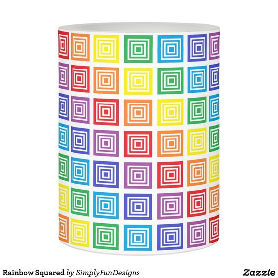 Rainbow Squared Flameless Candle