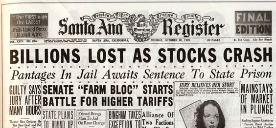 the start of the great depression in america Factors that caused the eventual great depression that began in the fall of  it  was triggered in large part by a sudden crash of the american stock market on.