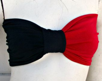 Harley Quinn inspired Comic Book BOW Bandeau Top your size
