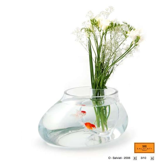 Fish bowl & flower vase