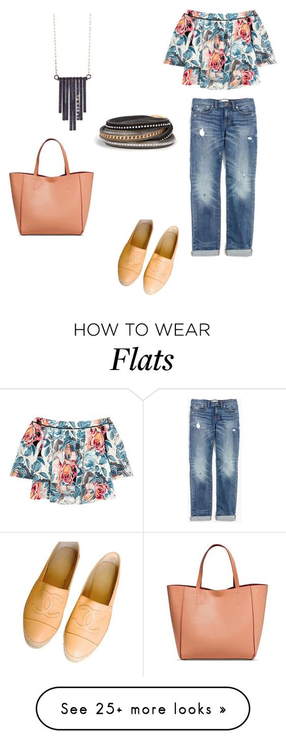 """Casual day"" by lilyandjunellc on Polyvore featuring Elizabeth and James, Madewell, Chanel, Merona and Ariko"