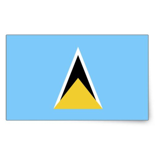 Saint Lucia Flag Rectangular Sticker Zazzle Com St Lucia Flag St Lucia Lucia