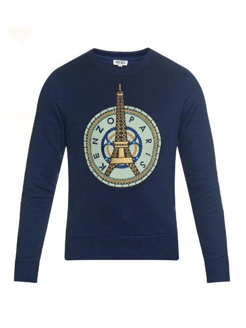 Eiffel Tower cotton sweatshirt