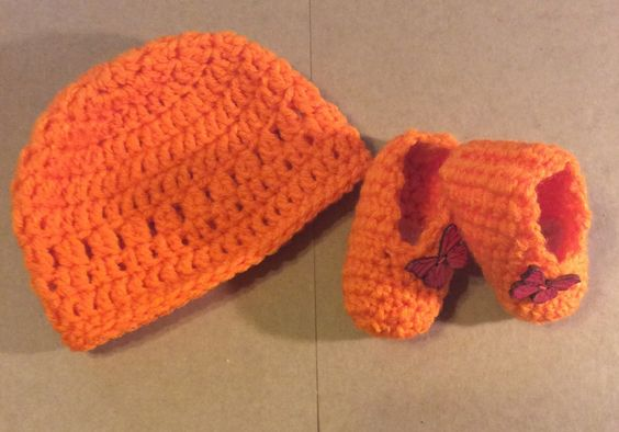 A personal favorite from my Etsy shop https://www.etsy.com/listing/261830861/orange-crochet-beanie-set-photo-prop