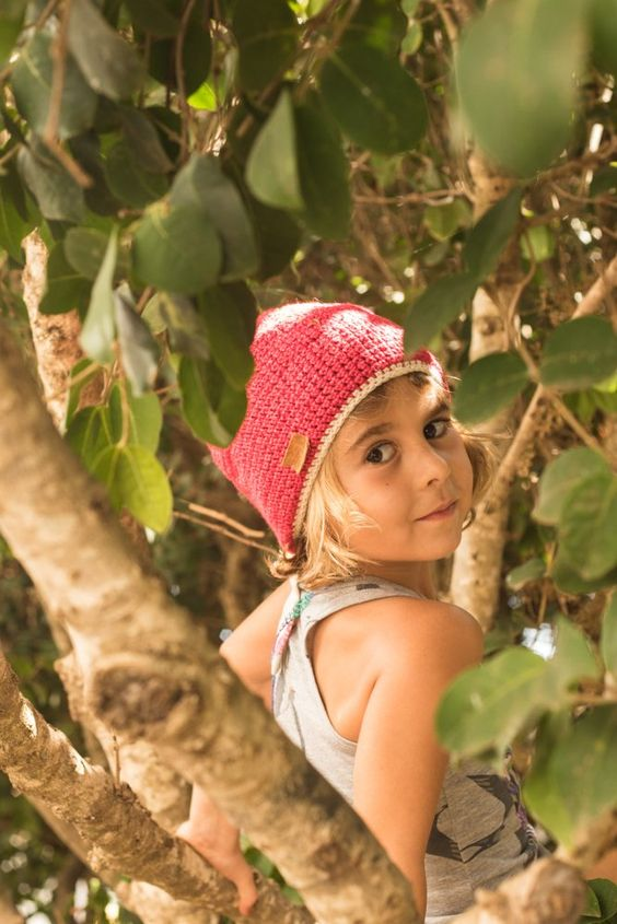 One of our cute Woody girls. Eco-friendly bamboo beanie :)
