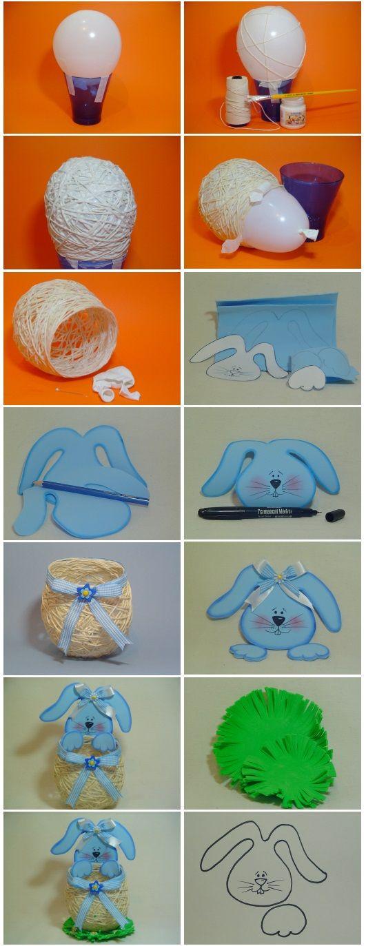 DIY Easter Basket out of Yarn String * Páscoa / Easter - - Blog Pitacos e Achados - Acesse: https://pitacoseachados.com – https://www.facebook.com/pitacoseachados – https://www.instagram.com/pitacoseachados - https://www.tsu.co/blogpitacoseachados - https://twitter.com/pitacoseachados - https://plus.google.com/+PitacosAchados-dicas-e-pitacos - http://pitacoseachadosblog.tumblr.com - #pitacoseachados: