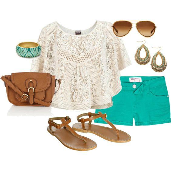 turquoise shorts!