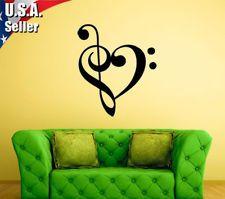 Wall Decor Art Vinyl Removable Mural Decal Sticker Musical Music Note Love 364