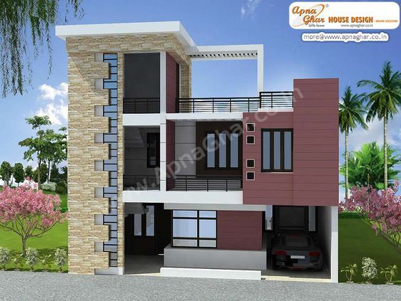 Duplex house design free floor plans and duplex house on for Duplex house elevation models