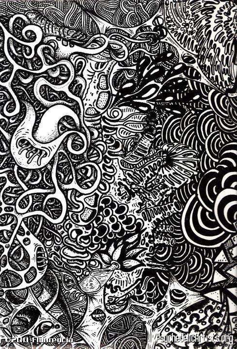 how to draw trippy art