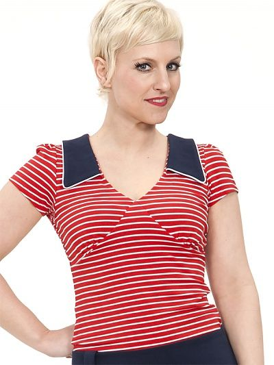 Grape Top, red striped