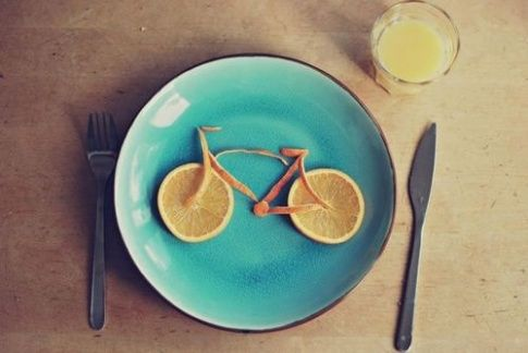 Fahrrad zum Frühstück