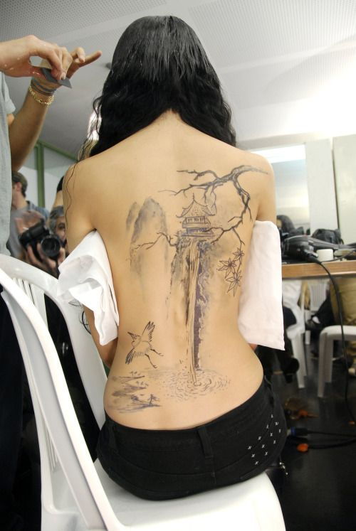Jean Paul Gaultier HC SS 2008 #tattoo #back #art
