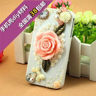 iphone4s 5 telefoon shell diy kits Kit Samsung Mobile Shell diamant plakken diamant bloem beauty Harsmateriaal - Taobao