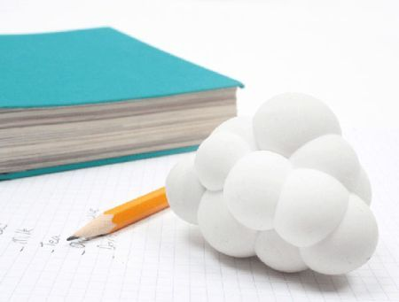 Whenever talking about something white and pure, both the clouds and erasers will come into my mind. Hence it's really good to see those items combined together to create these Cloud Erasers.