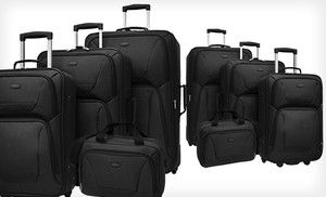 Groupon - $ 79 for US Traveler St. Michelle Four-Piece Luggage Set in Black ($ 329.99 List Price). Free Shipping and Returns. in Online Deal. Groupon deal price: $79.00