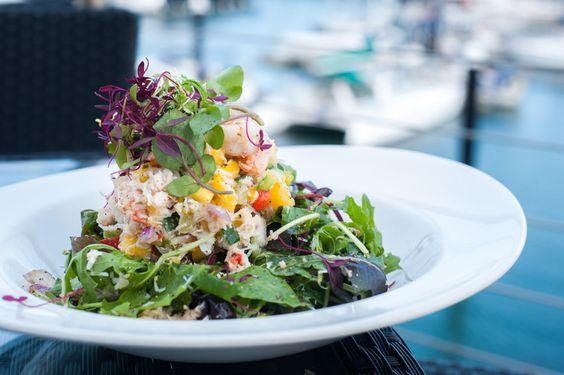 #Devon #Crab #prawns, #mango #chilli and #coriander #salad  #goodfood #Plymouth #thedockplymouth #kingpointmarina