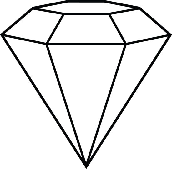 Line Drawings Of D Shapes : Diamond line art shape inspiration hat