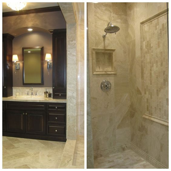 Travertine Shower Travertine And A Walk On Pinterest