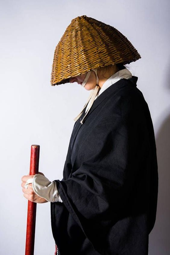 Japanese Monk Kasa Hat For Cosplay Japanese Monk Japanese Cosplay Japanese Outfits