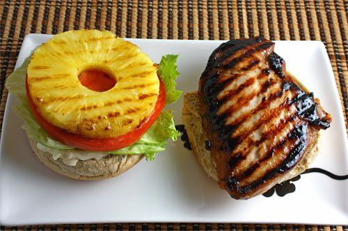 Grilled Teriyaki Chicken and Pineapple Sandwich